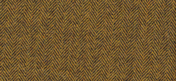 Mustard & charcoal herringbone Harris Tweed 74cm wide x 50cm long (1 left)