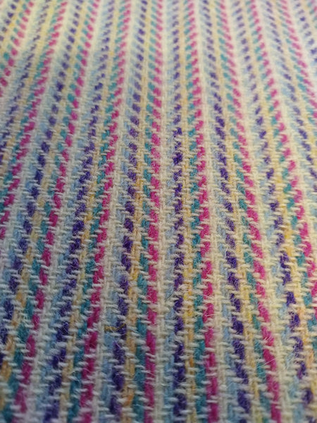 # Multi colour 2x2x2 WHITE 12x12 hb Harris Tweed 74cm wide 30cm long (LAST 1)