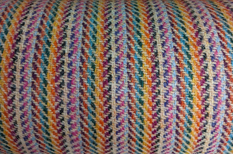 # Multi colour 2x2x2 LIGHT YELLOW 12x12 hb Harris Tweed 74cm wide 50cm long