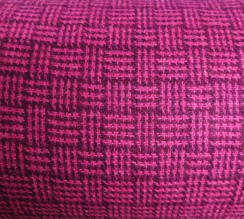 Basketweave rich purple & neon pink Harris Tweed 74cm wide 30cm long continual