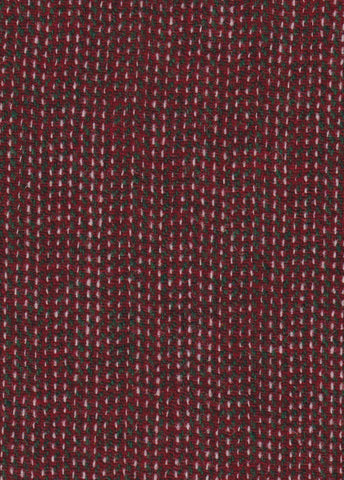 Festive red, green & white 12x12 hb Harris Tweed 74cm wide 30cm long continual