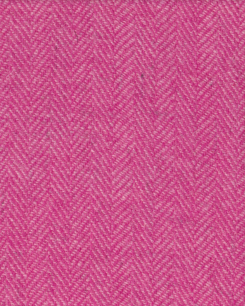 Light pink & neon pink herringbone Harris Tweed 74cm wide x 30cm long continual