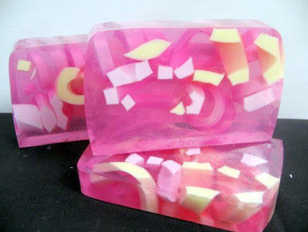 Raspberry Lemonade Soap Slice