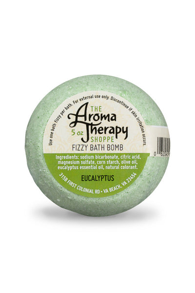 Handmade Eucalyptus Fizzy Bath Bomb - The Aromatherapy Shoppe Virginia Beach