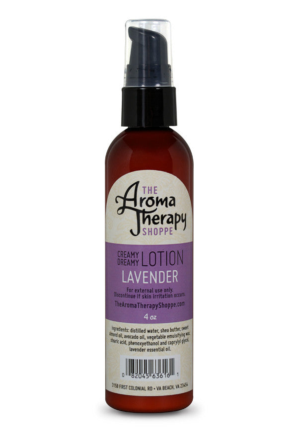 Handmade Lavender Lotion - 4 oz. - The Aromatherapy Shoppe Virginia Beach