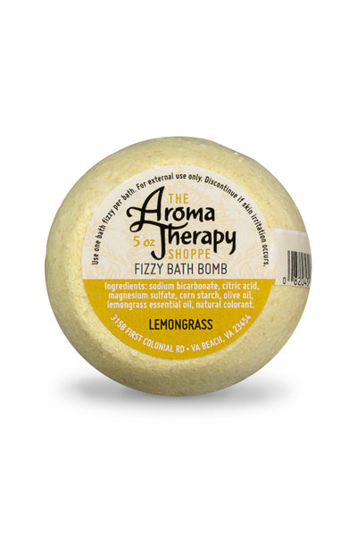 Handmade Lemongrass Fizzy Bath Bomb - The Aromatherapy Shoppe Virginia Beach