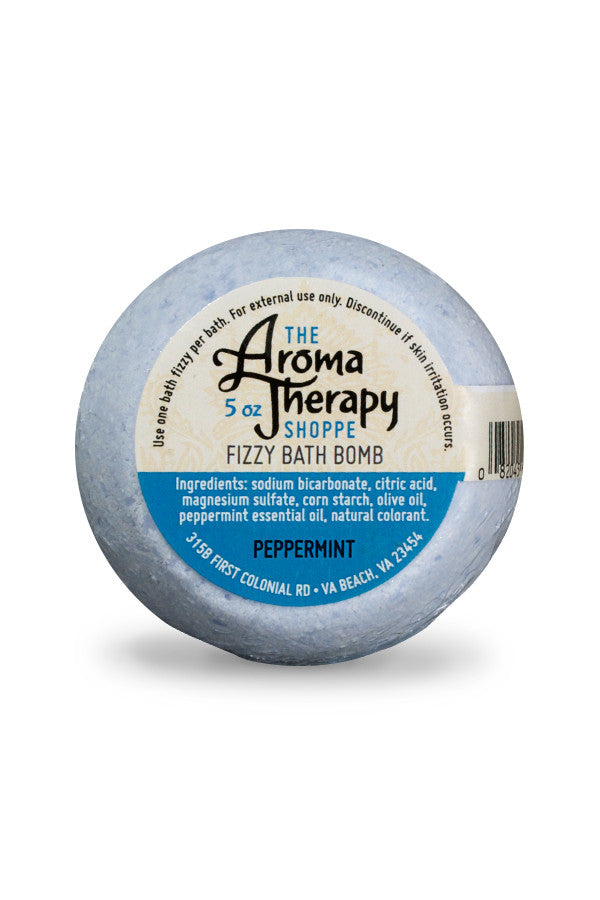 Handmade Peppermint Fizzy Bath Bomb - The Aromatherapy Shoppe Virginia Beach