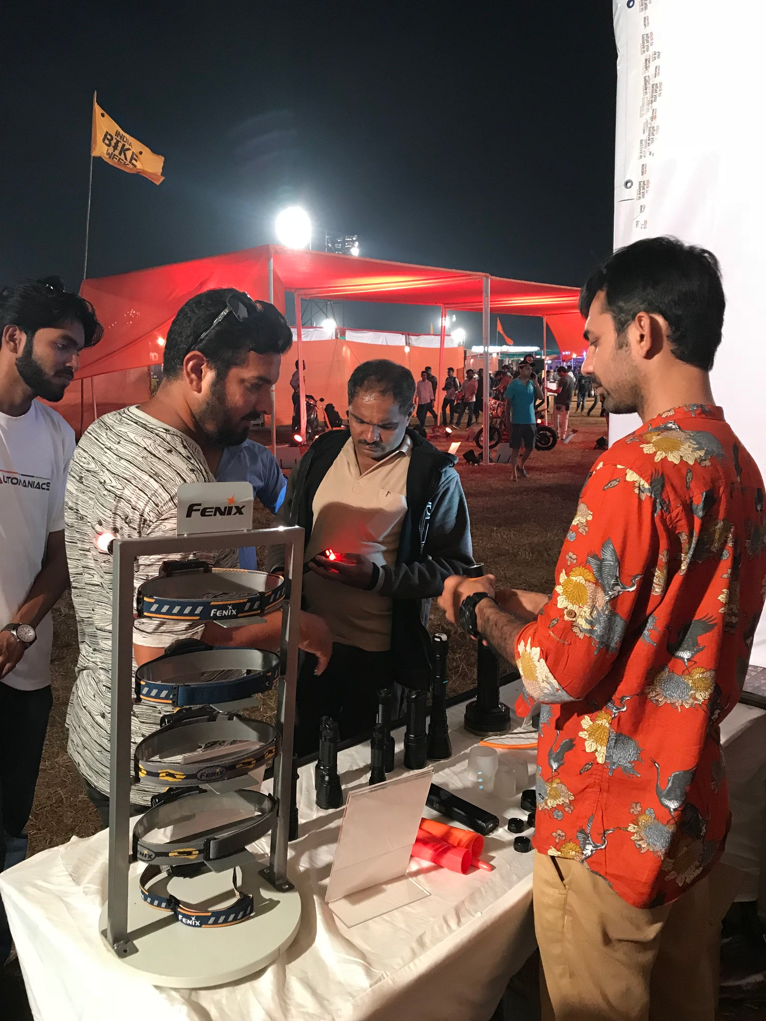 Glimpse of LightMen at IBW 2017, Lightmen at Indian Bike Week, Exhibitor of Fenix Flashlights