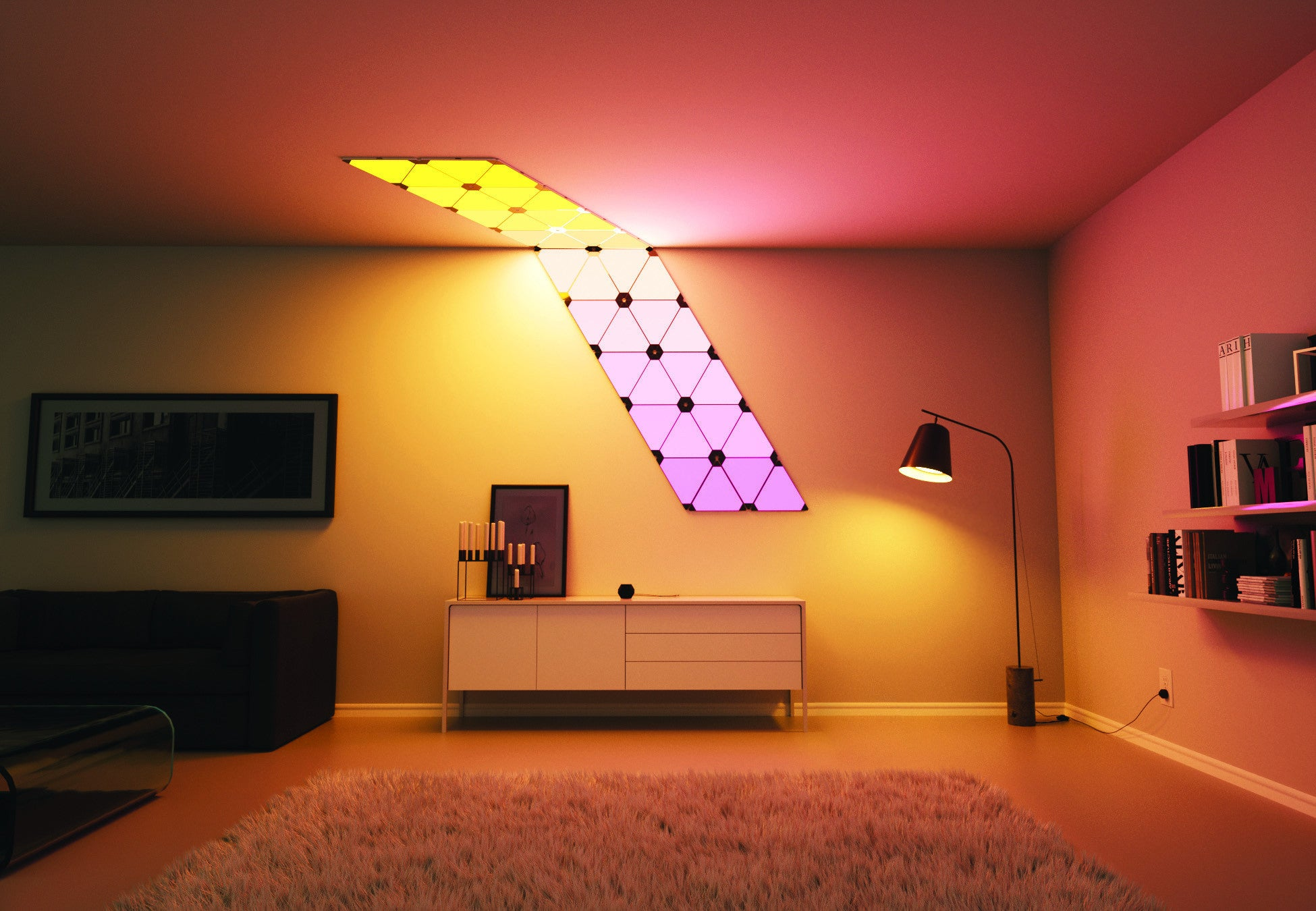 Nanoleaf Aurora India, It's the light for you- Color it, Now in India, Nanoleaf Aurora, Aurora, Revolutionary mood lights, Mood lighting, color lights, light panels, Play with colors, Make walls your canvas, Light creativity