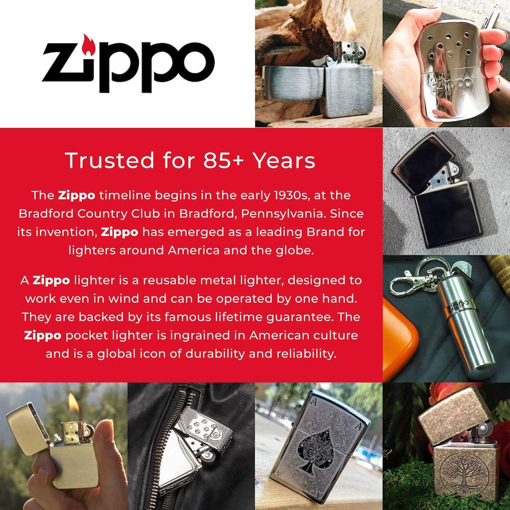 Zippo Classic Street Chrome Lighter with Slashes, Zippo 267 Lighter, Pocket Size Best Windproof Lighter in India, Zippo India