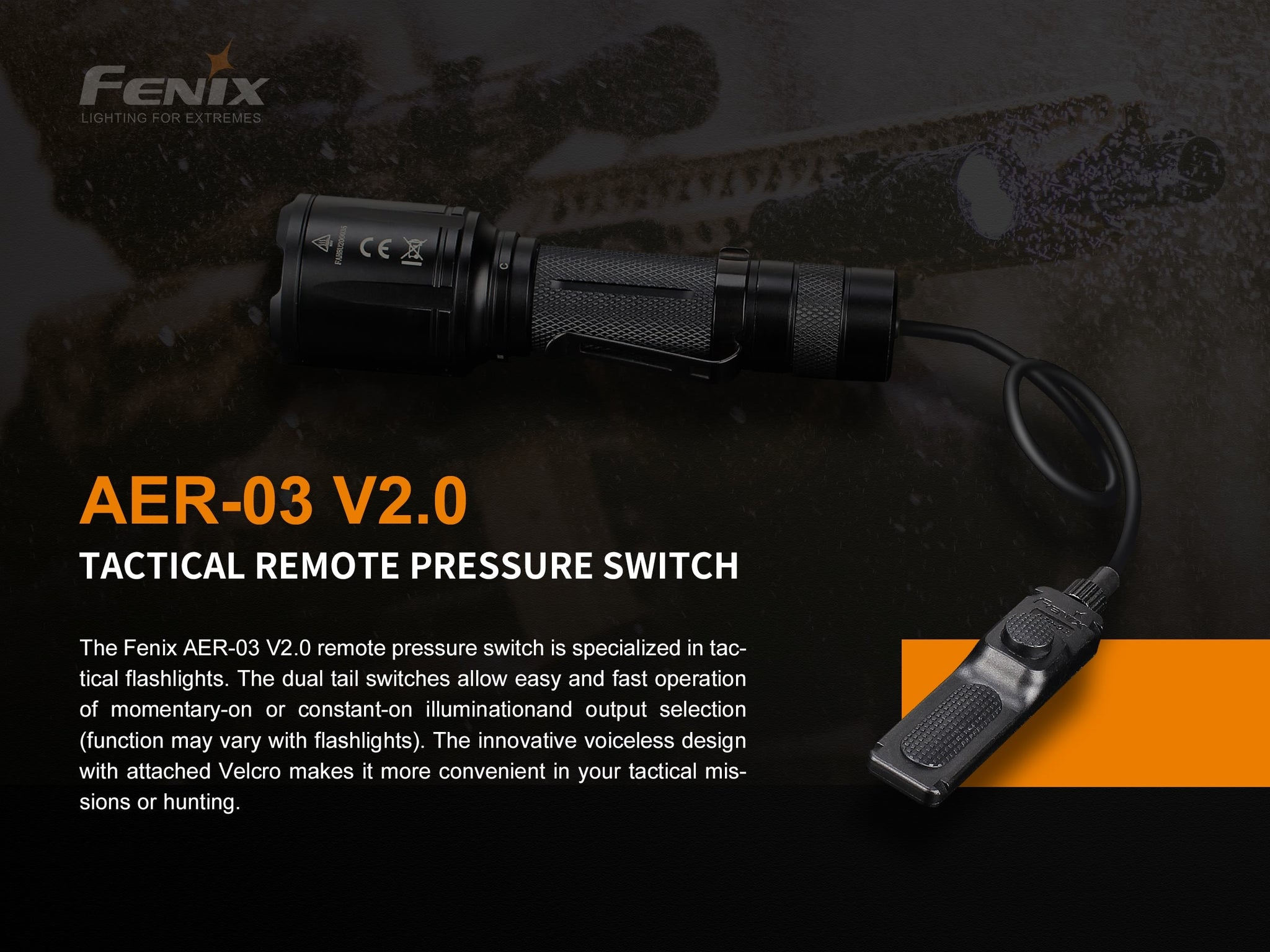 Fenix AER 03 V2 Tactical Remote Pressure Switch, Fenix Accessories in India, Fenix Remote Pressure Switch for Tactical Mounted Torches