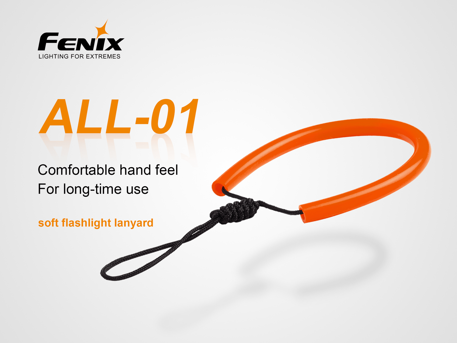 Fenix ALL 01 Soft Flashlight Lanyard, Strong strength Lanyard for grip on Large Heavy Flashlights, Comfortable and Soft Lanyard for Torches