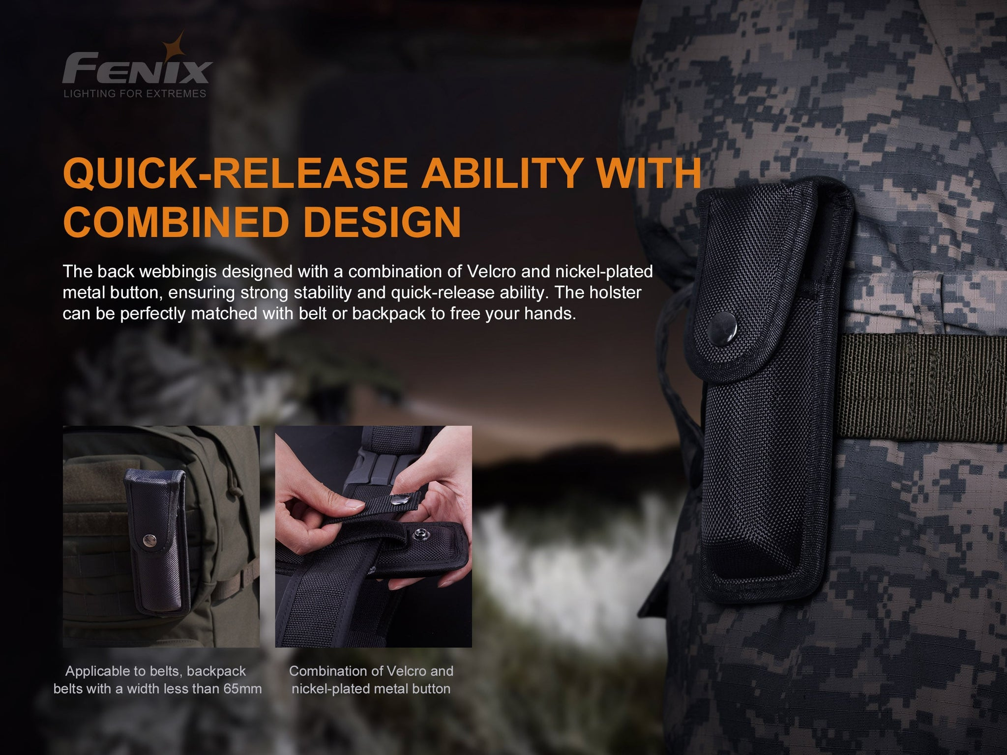 Fenix ALP 10 Tactical Duty Holster, Flashlight Holster, Torch Portable Pouch, Tough Holster Pouch