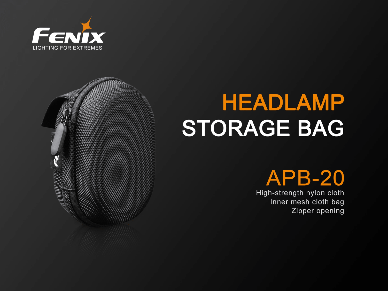 Fenix APB-20 Headlamp Bag / Pouch for Storage or Outdoor Travels, Headlamp storage bag, Compact Tough Pouch