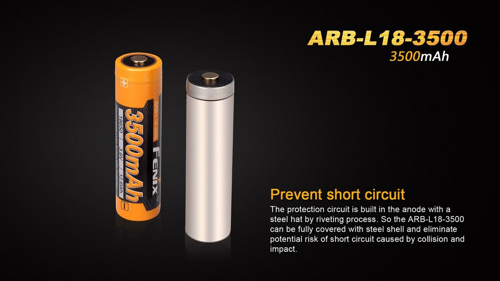 18650 Battery in India, BIS Approved Fenix 18650 ARB-L18-3500mAh India, BIS Certified
