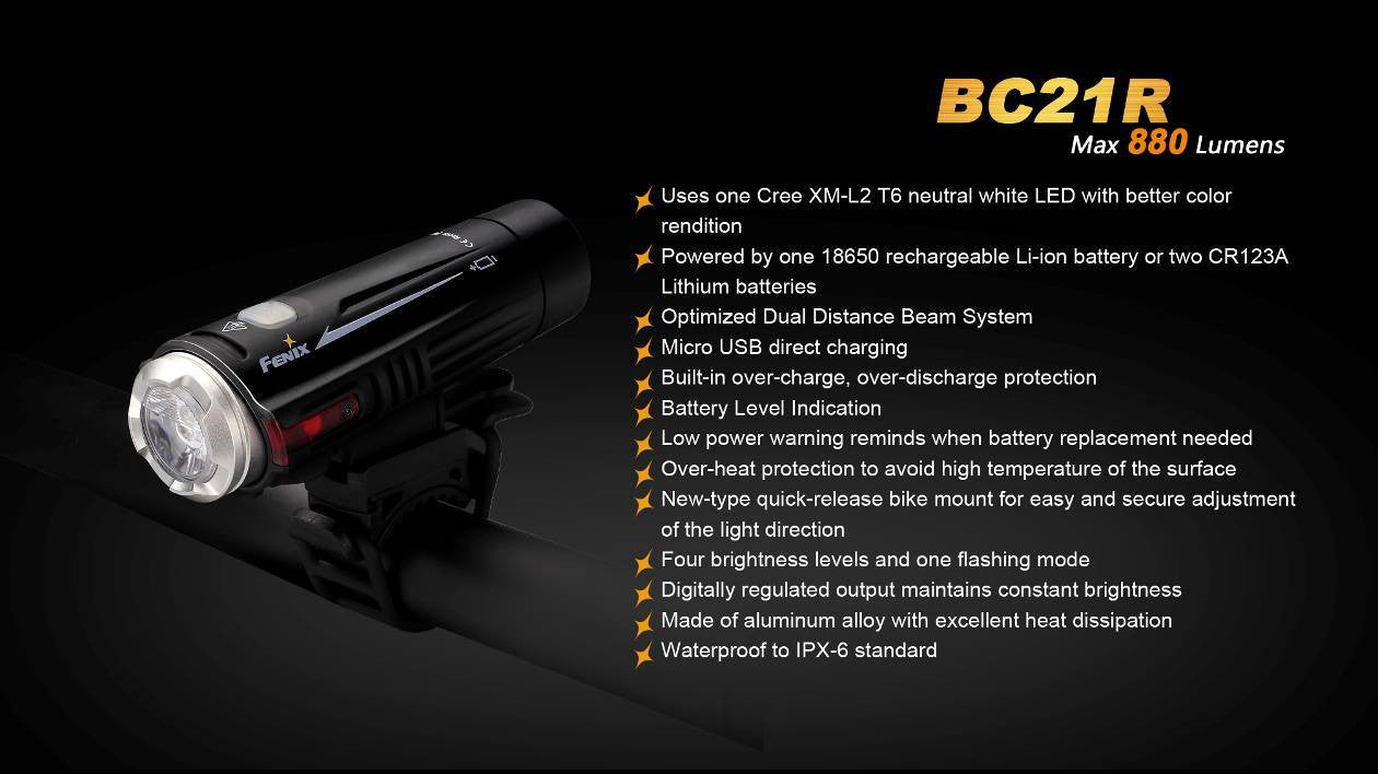 Fenix BC21R USB Rechargeable Bike/cycling Light, Buy online in India