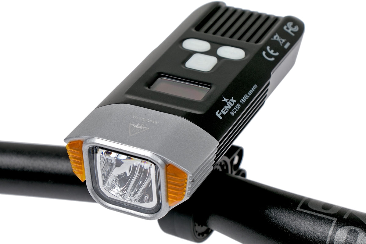 Fenix BC35R LED Bike/Bicycle Light, 1800 Lumens Rechargeable LED Bicycle Light, High Performance with OLED Screen