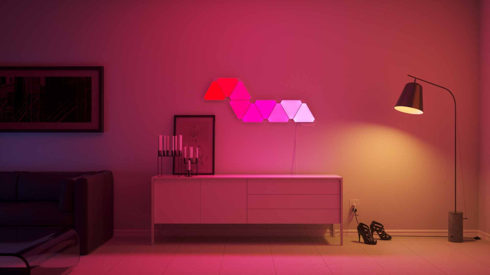 Nanoleaf Aurora India, It's the light for you- Color it, Now in India, Nanoleaf Aurora, Aurora, Revolutionary mood lights, Mood lighting, color lights, light panels, Play with colors, Make walls your canvas, Lighting creativity, Living space lights