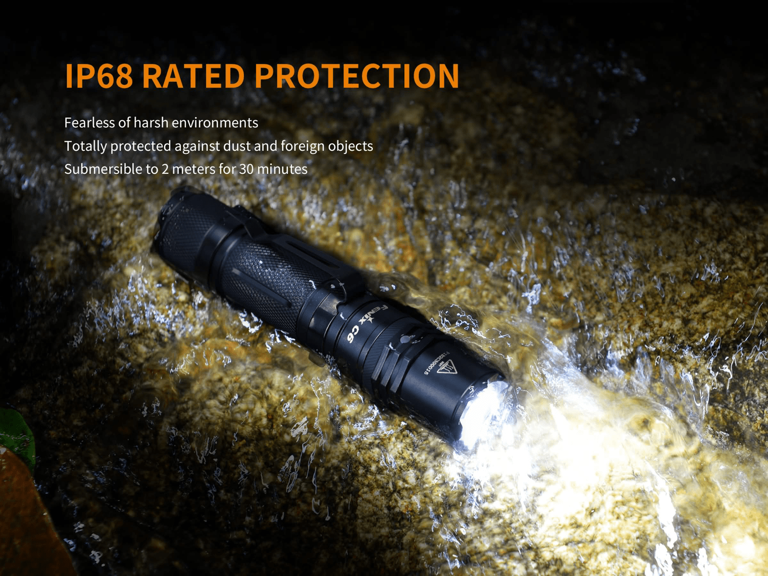 Fenix C6 V2 900 Lumens LED Flashlight, Best USB Rechargeable Torch Light in India, Compact Powerful Pocket size Torch for EDC Work