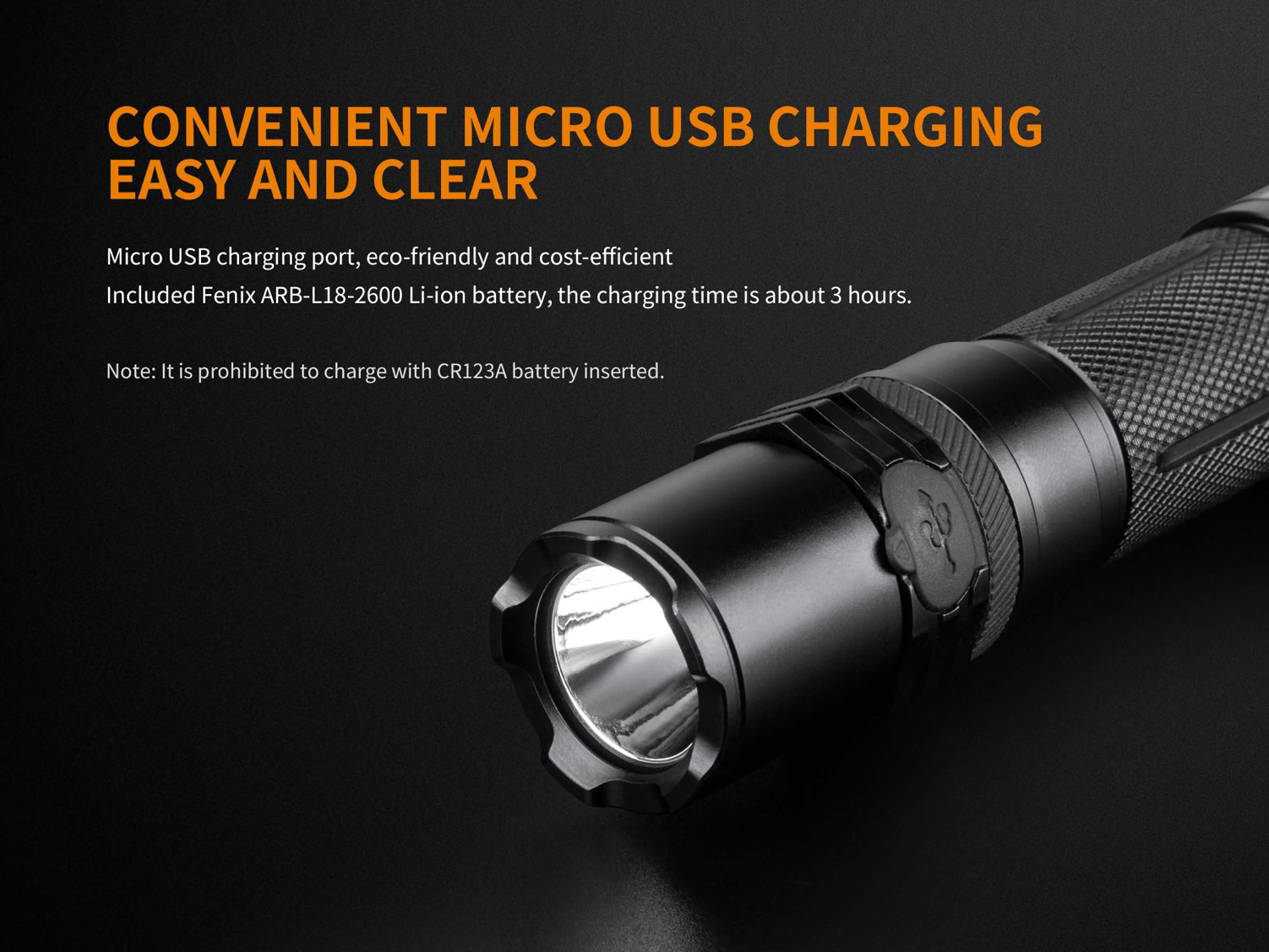 Fenix C6 LED Flashlight in India, 900 Lumens Powerful LED Torch, USB Rechargeable Handheld Light, Powered by Rechargeable Li-ion Battery, Compact, Everyday Carry Work Flashlight, economical Light in India