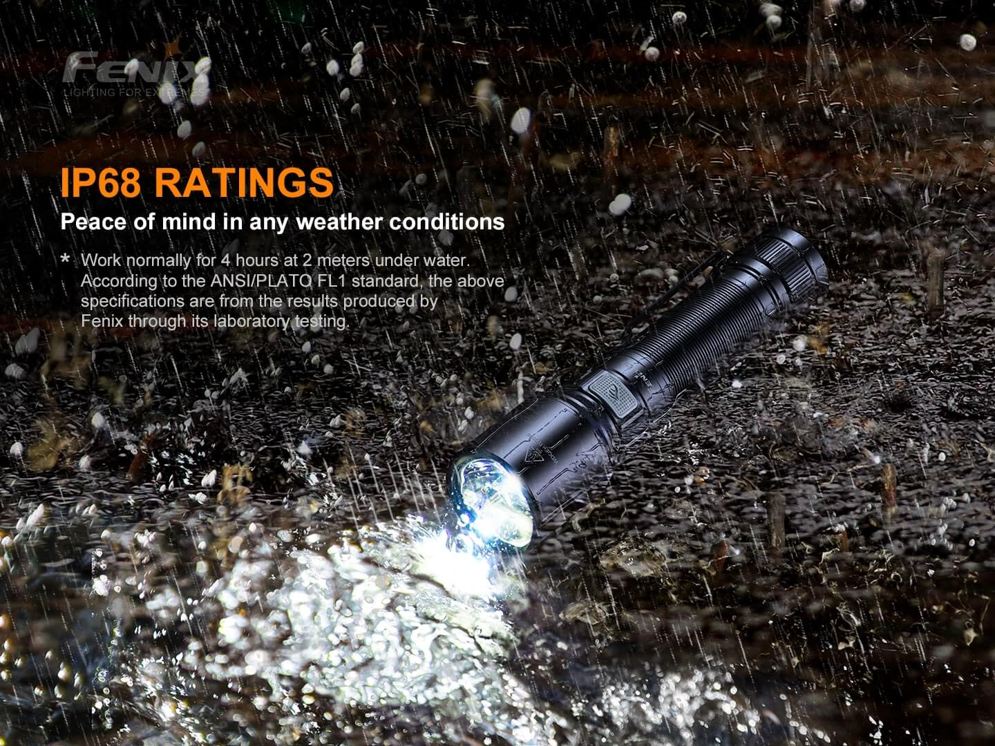 Fenix C6 V3 LED Rechargeable Torch Light,1500 Lumens Compact USB C-type Rechargeable Torch in India, Best for Outdoors Work Industrials Torches