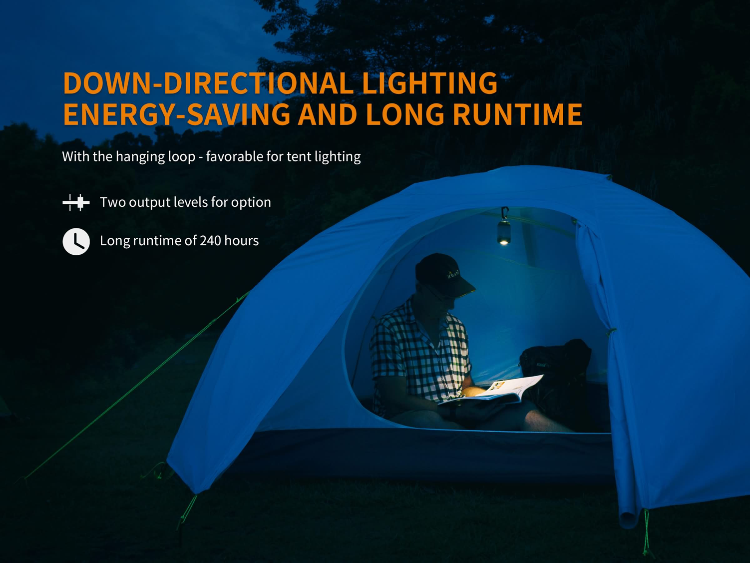 Fenix CL26R LED Camping Lantern, USB Rechargeable Light, Highly Portable and compact light for camping, outdoors, trekking, hiking and emergencies