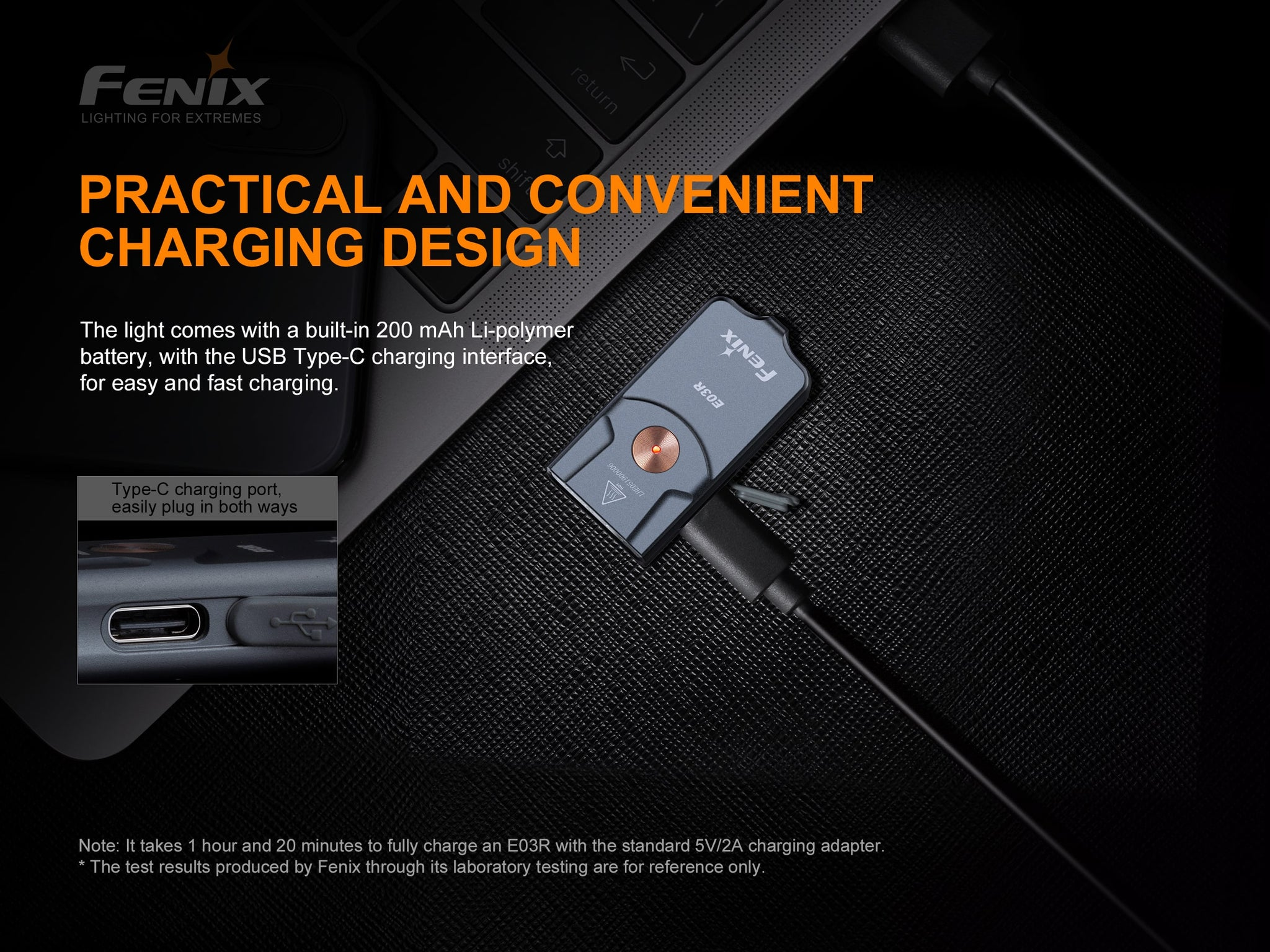 Fenix E03R Rechargeable Keychain Flashlight, Compact Key Chain Pocket Size LED Torch Light in India, Buy Mini Lights online in India at LightMen