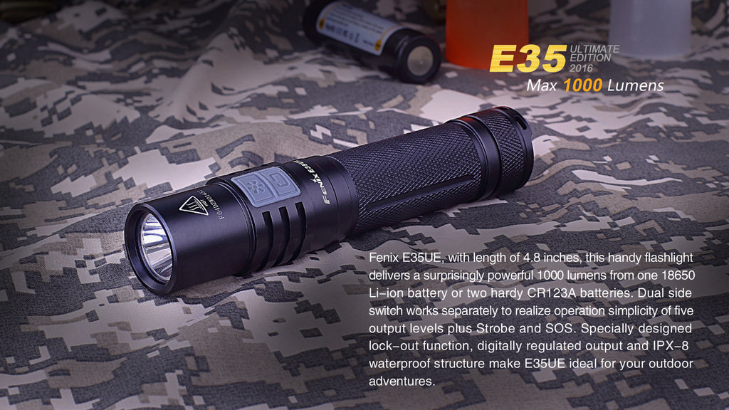 Buy Fenix E35UE LED Flashlight online in India, Buy Fenix E35 LED Torch Online in India