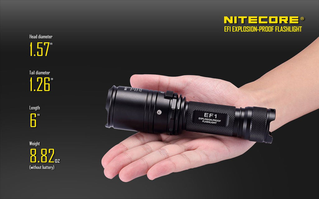 Nitecore EF1 Explosion Proof Torch, Flashlight India, intrinsically safe Torch India