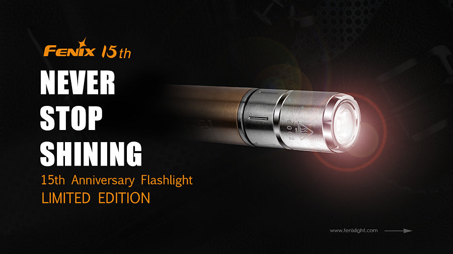 Fenix F15 15th Anniversary Edition Flashlight, Gifting Purpose Flashlight, Compact Lightweight, Everyday Carry Torch, Limited Edition