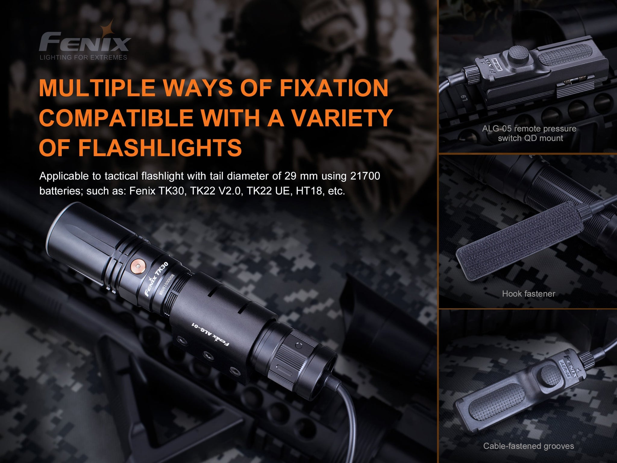 Fenix AER 04 Tactical Remote Pressure Switch in India Accessory For Rail Mounted Flashlight