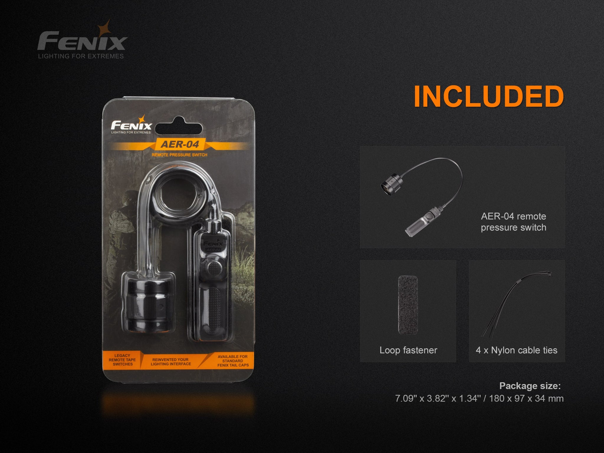 Fenix AER 04 Tactical Remote Pressure Switch in India Accessory For Rail Mounted Torchlight