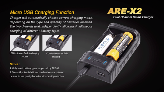 Fenix ARE-X2 All-In-One 2 Slot Charger