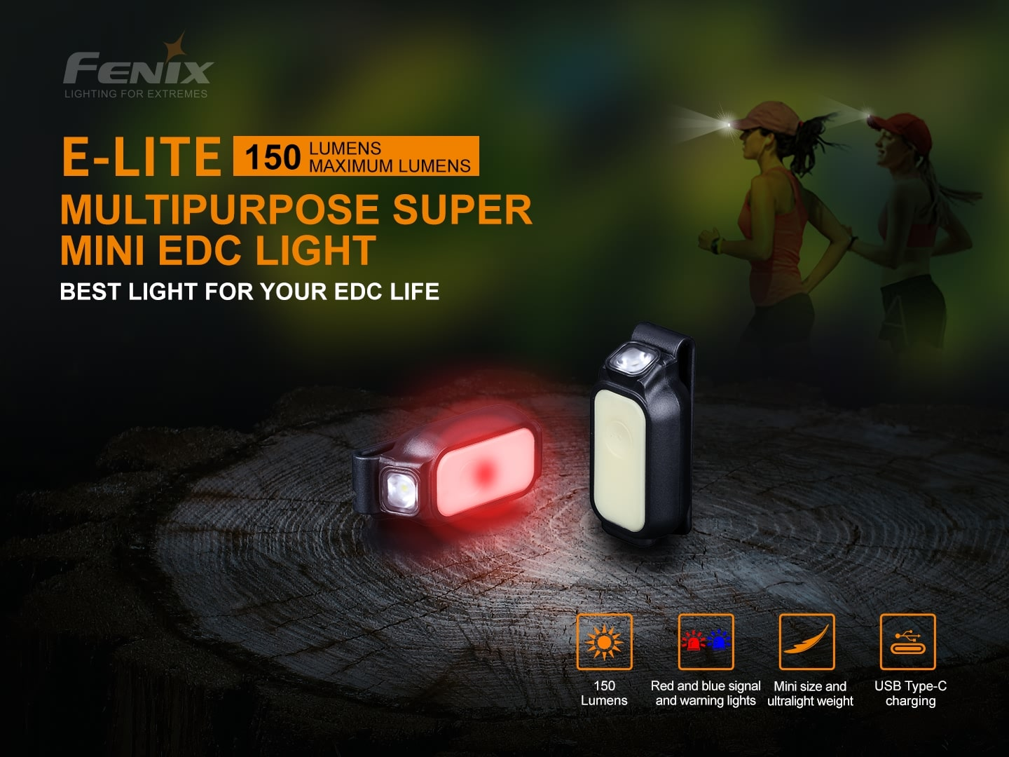 Fenix E-Lite LED Mini Torch Light, Fenix E Lite Ultimate Compact Light for Outdoors EDC, Mini Light for Bicycle, Backpack, Cap, Waist or Pocket, Signalling walk through Light
