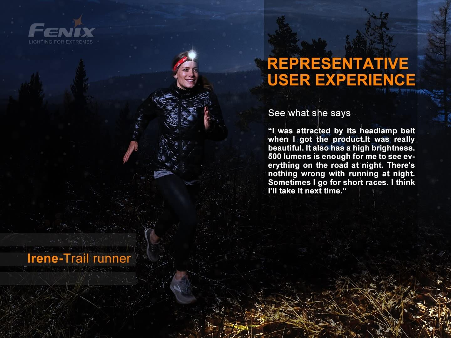 Fenix HL18R-T LED Rechargeable Headlamp, Ultralight Trail Running LED Head Torch, 500 Lumens Hand-Free Lighting, Perfect Head Torch for Outdoors EDC Walks & Work