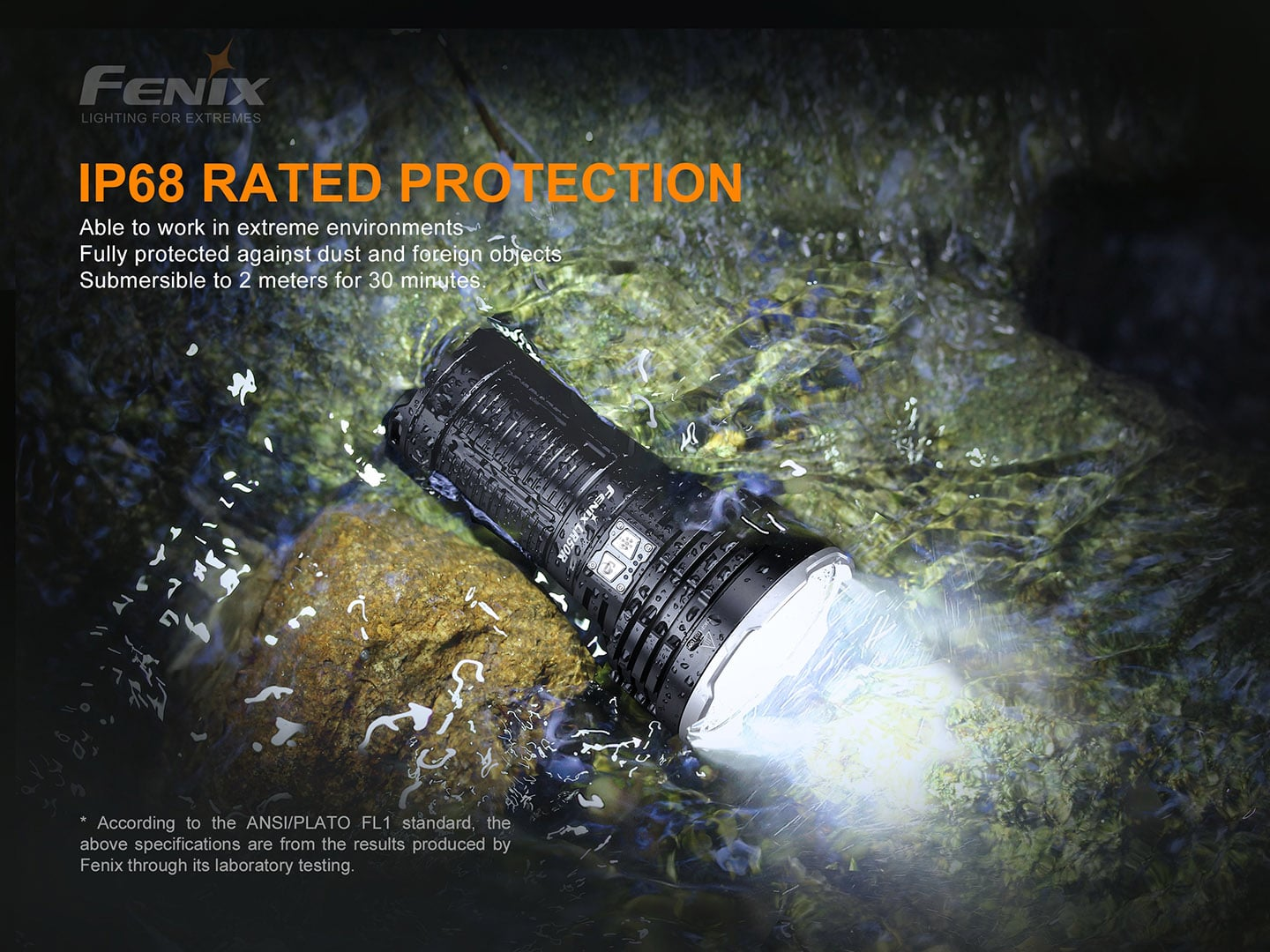 Fenix LR50R Searchlight in India, 12000 Lumens 950m rechargeable flashlight, extremely powerful Long-Range light