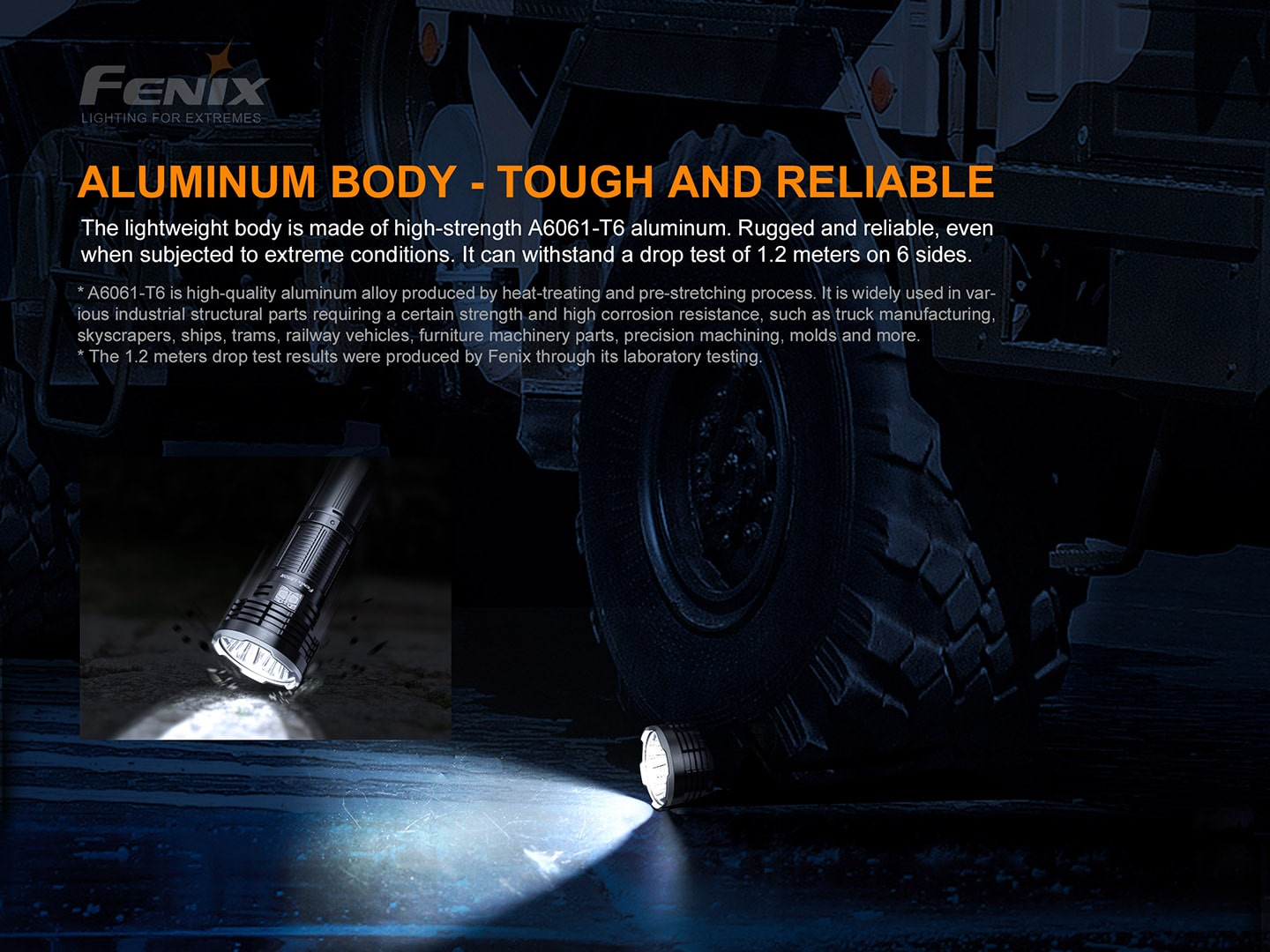 Fenix LR50R Extremely powerful bright  searchlight for search, rescue, outdoors, law enforcement, camping, jungle trek and photography