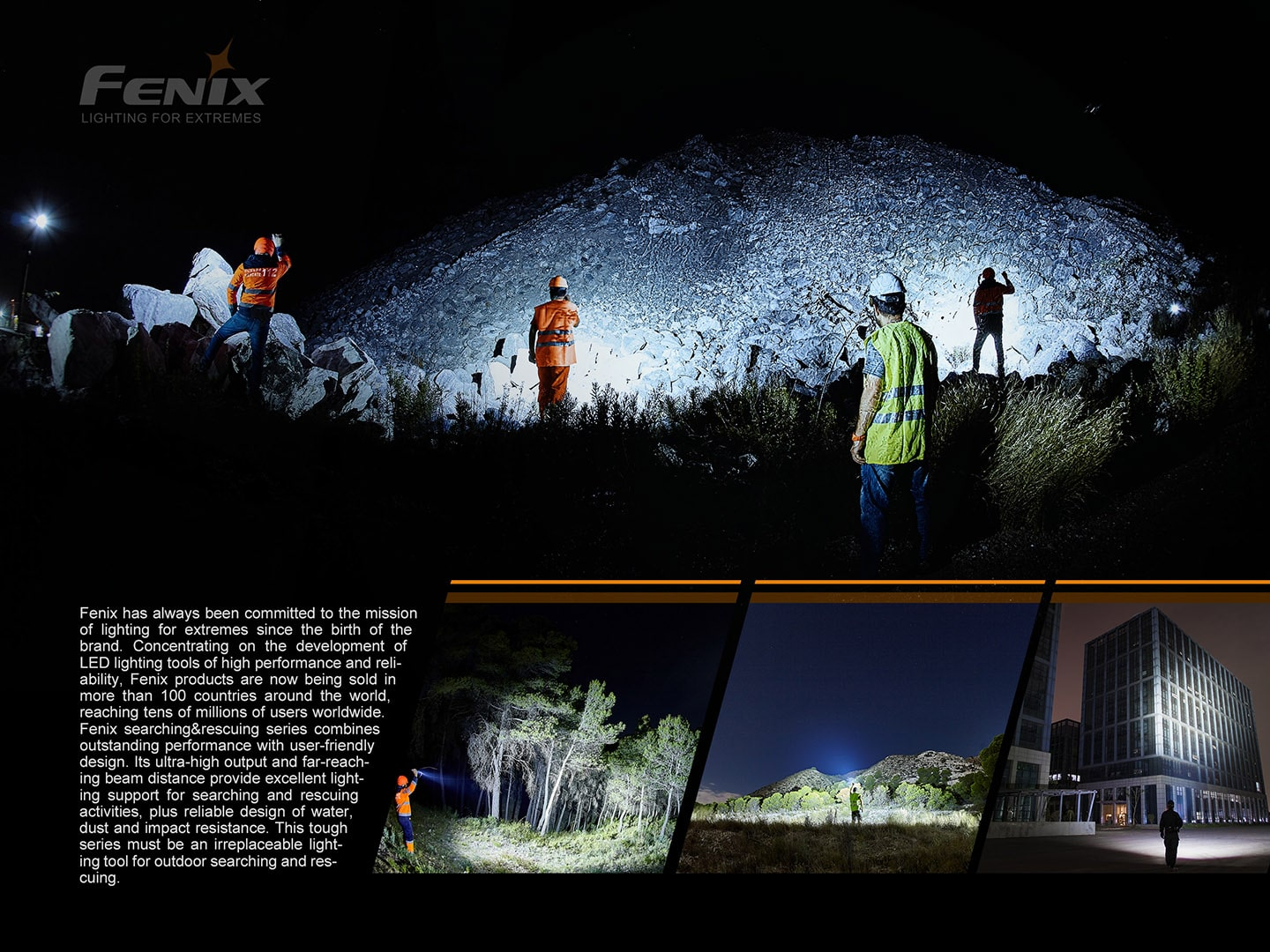 Fenix LR50R Torchlight in India, 12000 Lumens 950m rechargeable flashlight, extremely powerful Long-Range light
