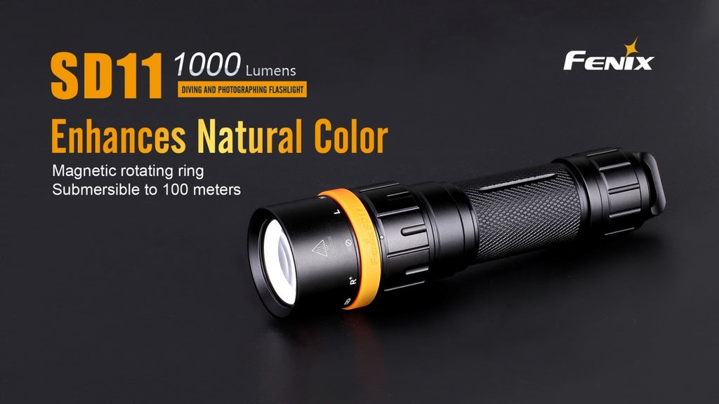 Buy Fenix SD11 LED Diving Flashlight in India- CREE Torch Neutral White LED Flashlight online in India