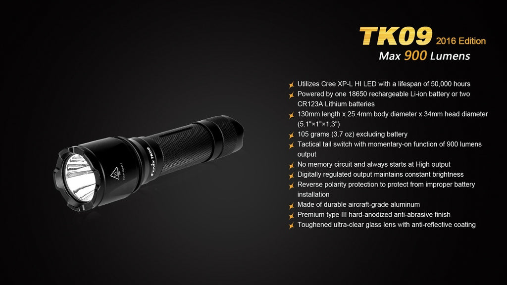 Buy Fenix TK09 LED Flashlight  in India, Long Distance LED Flashlight in India, Tactical Led Flashlight, Compact Hand-held Led Torch