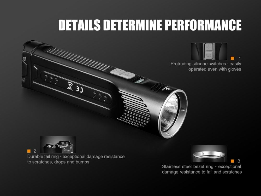 Fenix UC52, 3100 Lumens Searchlight, USB Rechargeable Flashlight, High Performance Flashlight in India, Fenix LED Flashlight