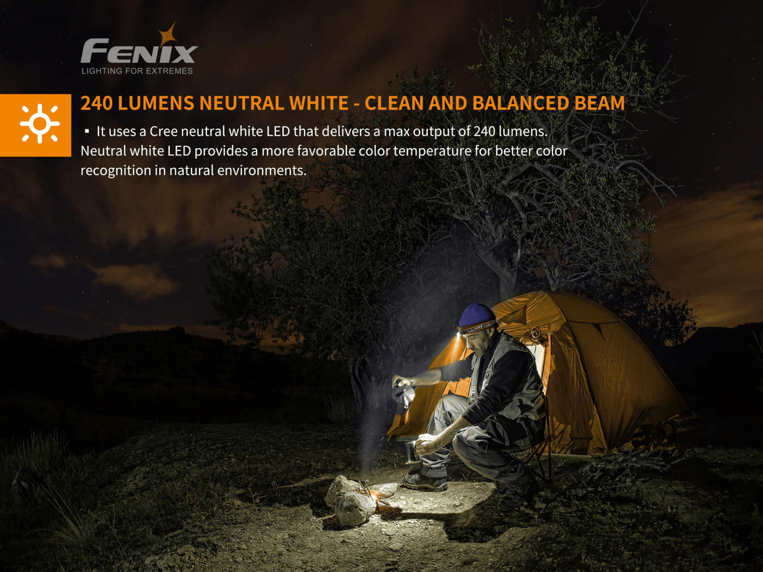Fenix HM23 LED Headlamp in India for Outdoors, Running, Hiking, 240 Lumens Neutral White LED, Compact & Light weight Head Torch
