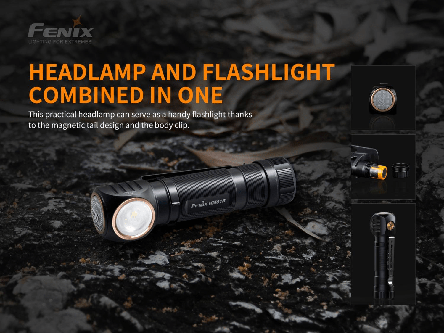 Fenix HM61R LED Headlamp, Rechargeable Powerful Lightweight Headlamp in India, Mulit-Functional Head Torch with Flood and Spot Light, Buy Fenix HM61R in India