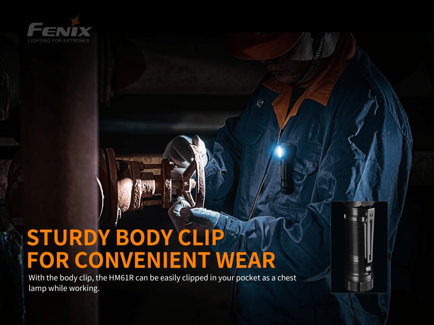 Fenix HM61R LED Headlamp, Rechargeable Powerful Lightweight Headlamp in India