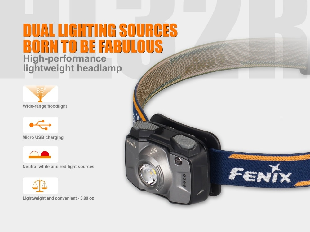 Fenix HL32R, Fenix Rechargeable Headlamp, LED Head Torch, Wide range Headlamp, 600 Lumen Headlamp