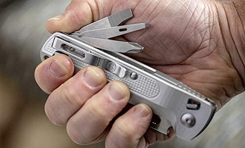 Leatherman FREE Series, Leatherman K2X Pocket Outdoor Knife & Multi Tool, EDC Compact Foldable Knife by Leatherman, 420HC Combo Blade Straight & Serrated Blade, Pry Tool, Awl, phillips screwdriver, Buy Leatherman Tools Online in India at LightMen