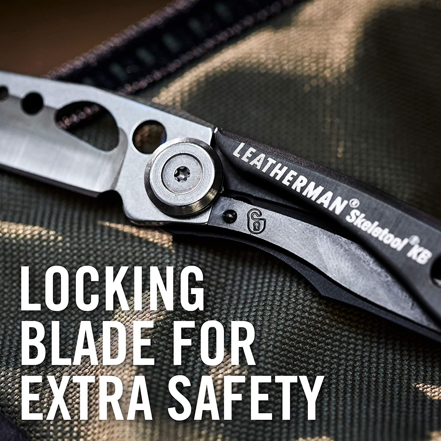Leatherman KB Knife, Leatherman Multi Tool Knife online in India at LightMen, Leatherman tools india, compact Foldable pocket Knife, best outdoor knife, 420HC Straight Blade Knife