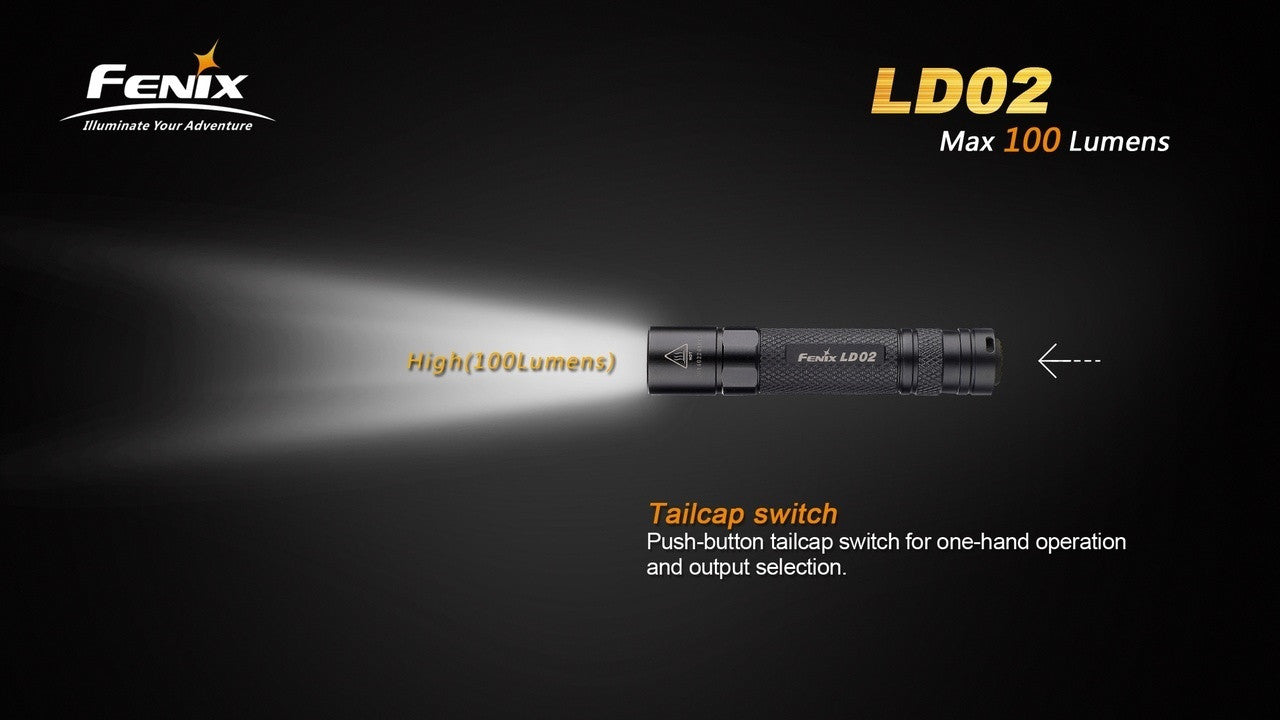 Fenix LD02 LED Flashlight in India, Cree XP-E2 LED 100Lumens