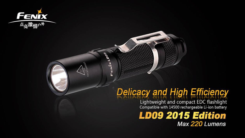 Fenix LD09 2015 Edition Flashlight - Uses 1 x AA (Included) or 1 x 14500 Battery