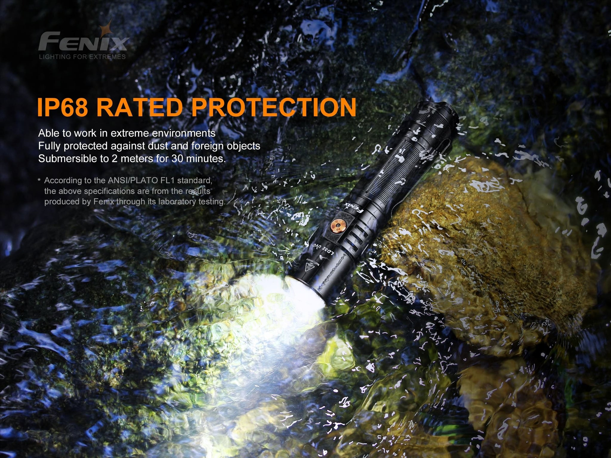 Fenix LD32 UVC LED Flashlight in India, Best UVC Torch Light for Disinfection. Portable UVC Rechargeable Light in India at LightMen